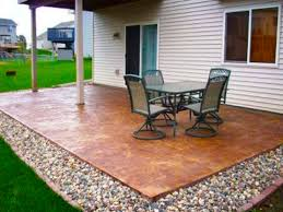 Diy Backyard Patio Ideas Cheap Makeovers For On A Budget Also Images  Concrete Design Plain