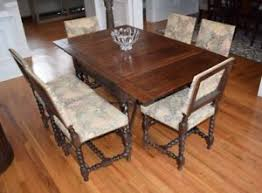 oak dining table. Antique English Oak Barley Twist Expandable Dining Table Edwardian Circa 1900-09