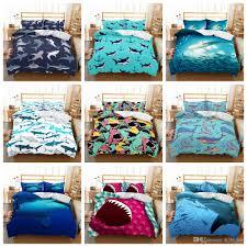 9styles shark cartoon printed kids bedding set duvet cover quilt cover pillowcase bedding supplies ffa680 kids bedspread sets boys queen sheet sets from
