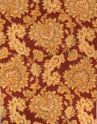 hand tufted paisley fl red gold oushak indoor oriental area rug wool 9x12