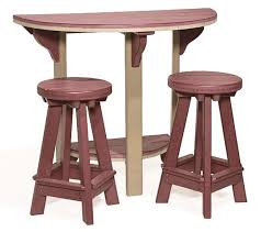 canova beach half round bar table with stools