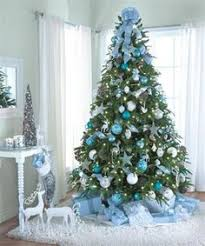 Silver And Blue Christmas Tree  Christmas  Pinterest  Blue Blue Christmas Tree Ideas