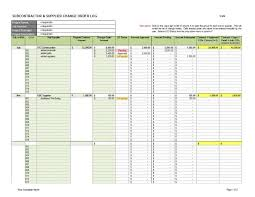 Subcontractor Supplier Change Order Log 1 Cms