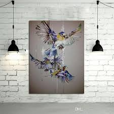 100 handpainted oil painting beautiful birds paintings on canvas modern art best gift abstract wall art pictures home decor
