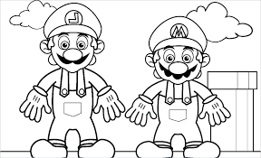 Super Mario Bros Coloring Pages Printables Super Pictures To Print