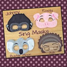 sing costumes awesome sing inspired felt masks sing johnny ash