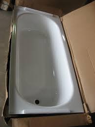 briggs bathtubs pendant v white enamel porcelain on steel slip resistant 60 x 30 x 14 1 4 new in the box left drain only 99 00 each