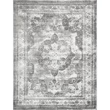 gray and white rug. Brandt Machine Woven Indoor Gray Area Rug And White
