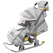 <b>Санки</b>-коляска LUXE Финляндия <b>Snow Galaxy</b>, цвет серый ...