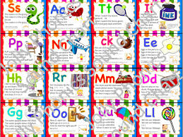 Phonics Chart Jolly Phonics Sound Chart Small Cards For Playing Games