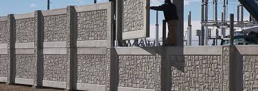 Small Picture Sound Barrier Fence Stonetree Concrete Fence Systems