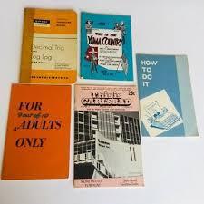 resume booklet 5 vintage 1960s booklet lot carlsbad yuma resume decimal
