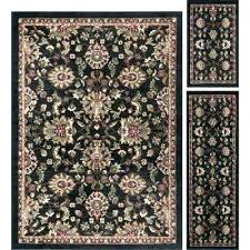 8x10 area rug and runner set 3 piece with black area rug runner