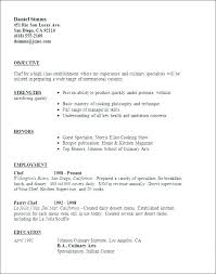 Culinary Resume Examples Stunning Resume Templates Examples Free Packed With Chef Resume Example