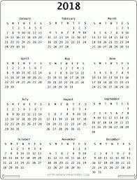 Free 2018 Calendar With Holidays Weekly Calendar Template