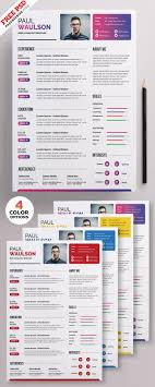 Creative Resume Template Psd Set Steemit