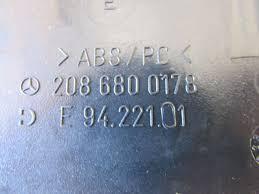 mercedes dash fuse box cover left 2086800178 w208 clk320 clk430 mercedes dash fuse box cover left 2086800178 w208 clk320 clk430 clk55 amg4