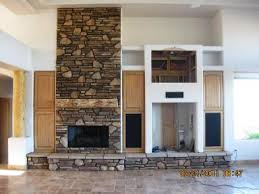 Do It Yourself SW Fireplace Mantel uses a Pine Character log for the Mantle.  River