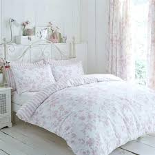 watercolour style fl speckled pink cotton blend super king duvet cover pintuck