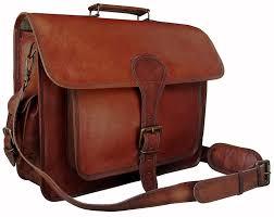 men s genuine vintage leather messenger bag shoulder laptop briefcase handbag