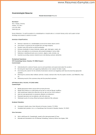 Sample Cosmetology Resume Awesome Cosmetology Resume Examples Beginners Bino48terrainsco