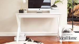 white matt wooden desk with drawer