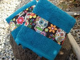 Sugar Skull Bathroom Decor Day Of The Dead Hand Towels Sugar Skulls By Bitchinbagsbybenita