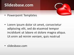 Heart Powerpoint Templates Locked Red Heart Powerpoint Template
