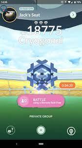Cryogonal is a 3 star raid: TheSilphRoad