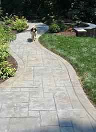 Concrete Path Designs Stamped Concrete Walkway Designs By Greystone Masonry