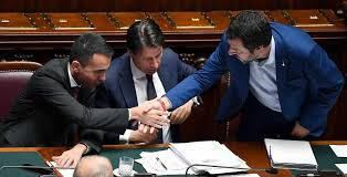 Rezultat iskanja slik za di maio salvini conte foto