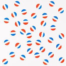 Décoration - Confettis de table bleus,blancs,rouges - Anniversaire ...