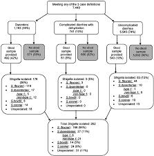 Download Flow And Chart Shigella Illustrating Diagram Cases Scientific Diarrhea Of Distribution