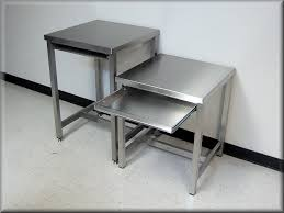 ... Stainless Steel Flat Table with Stainless Keyboard Tray ...
