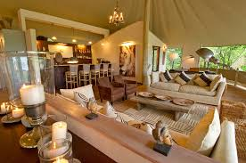 Living room in African style