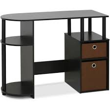 furinno jaya simplistic computer study desk with bin drawers