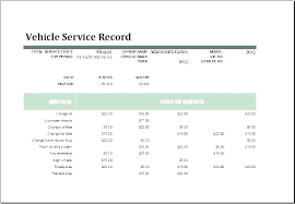 Car Service Record Template Car Log Book Template Auto Maintenance Click Here To