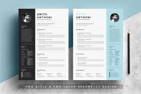 2 Pages Resume Template Pixelify Best Free Fonts Mockups
