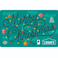 holiday lights gift card