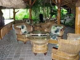 polynesian furniture. Download Wicker Lobby Furniture With Polynesian Fabric Bora Resort Stock Photo - Image Of
