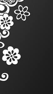 子猫 花イラストのスマホ壁紙
