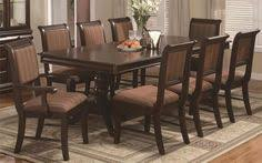 formal 7 piece bordeaux dining room set inc table 18 leaf and 6 chairs new