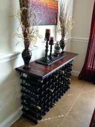 wine rack console table. Console Table With Wine Storage Sofa Rack .