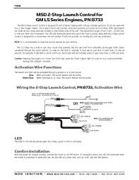 msd ignition wiring diagrams wiring options · msd 2 step launch ontrol for gm ls engines