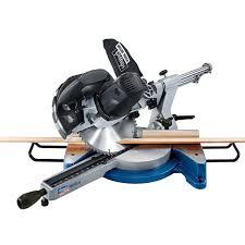 sliding miter saw. scheppach hm100lxu sliding mitre saw 254mm / 10 inch 240v miter