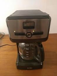 This small coffee maker with timer that has an automatic shutoff setting after 30 minutes so it will. Mr Coffee Programmable 12 Cup Coffee Maker With Timer Brew Strength Bvmc Pjx23 Ebay
