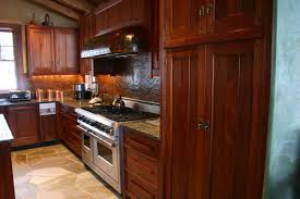Light Brown And Dark Grey Mahogany Wood Kitchen Cabinets Of Hardwood