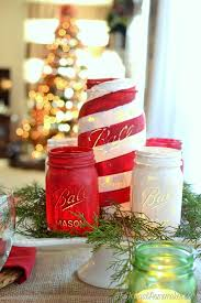 How To Decorate Canning Jars Chalky Painted Mason Jars And Christmas Tablescape Americana 56