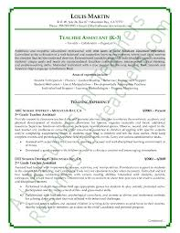 Example Resume For Teachers Simple Teacher Assistant Resume Sample Free Resumes Tips Shalomhouseus