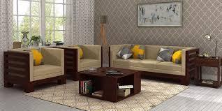 simple wooden sofa set designs